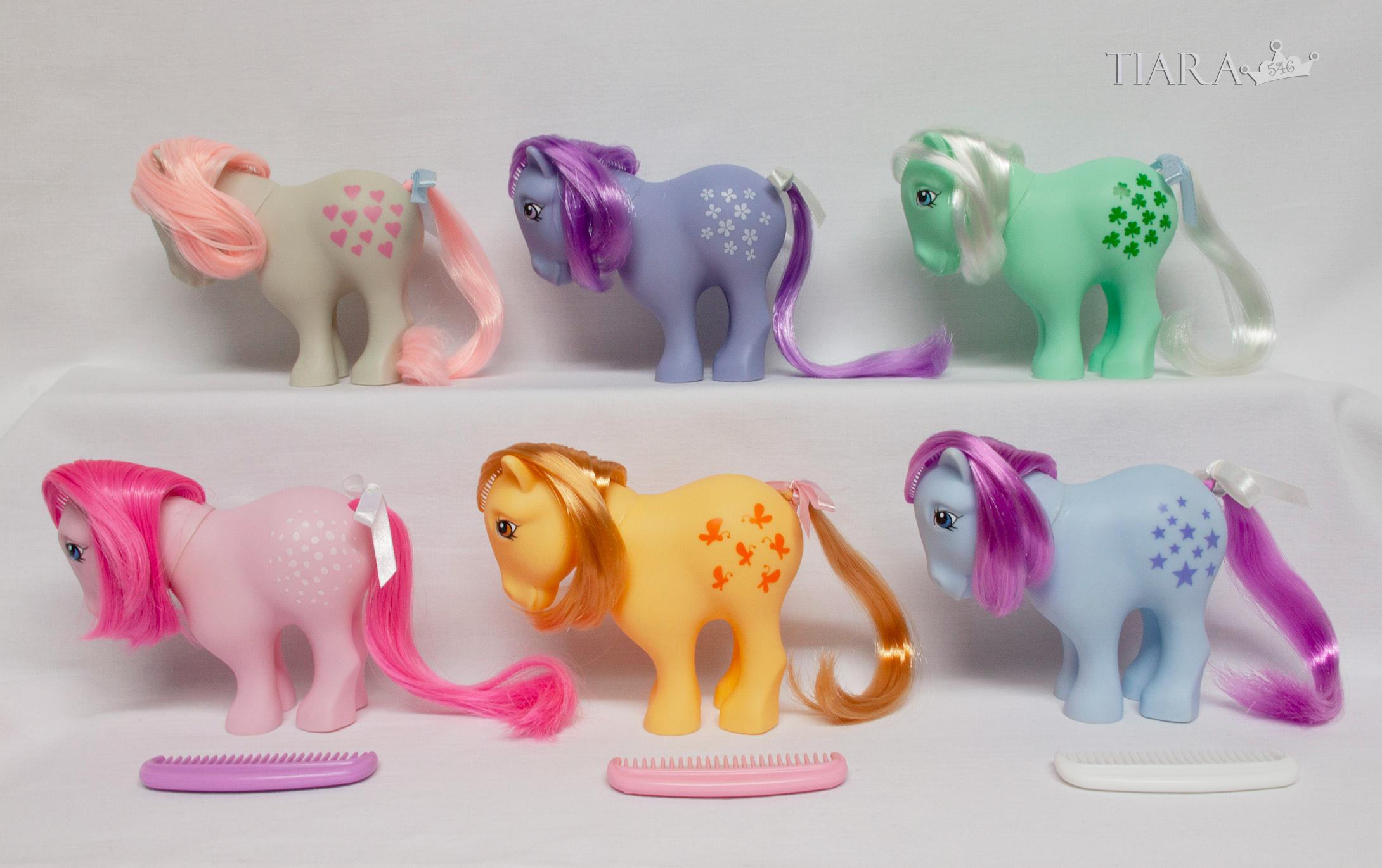 MLP G1 G3 CP Pony Collector Pose 25th Anniversary Ponies Set