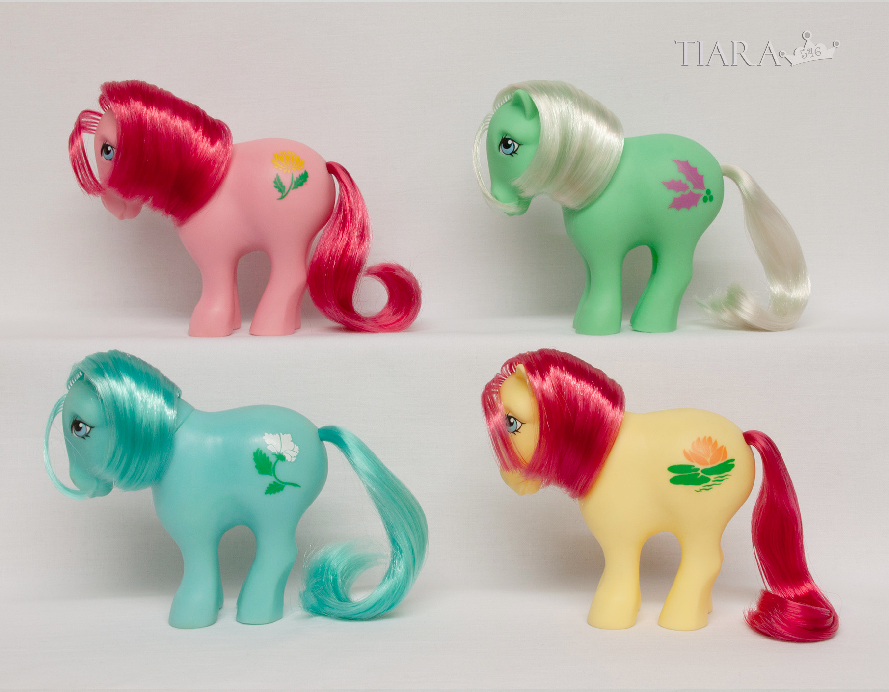 MLP G1 CP Pony Collector Pose Alternate Birthflower Ponies