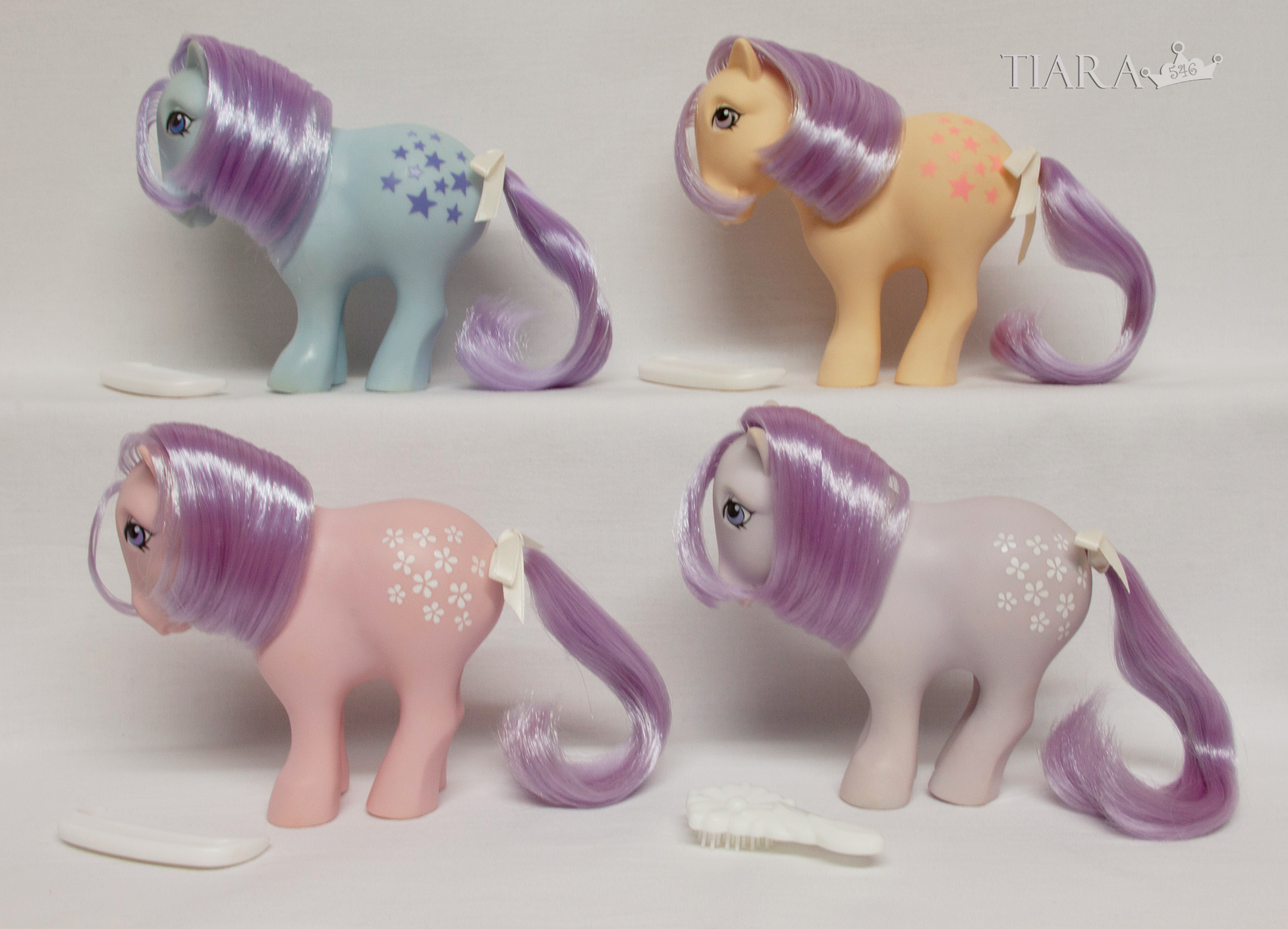 MLP G1 CP Pony Collector Pose Second Series Variant Ponies