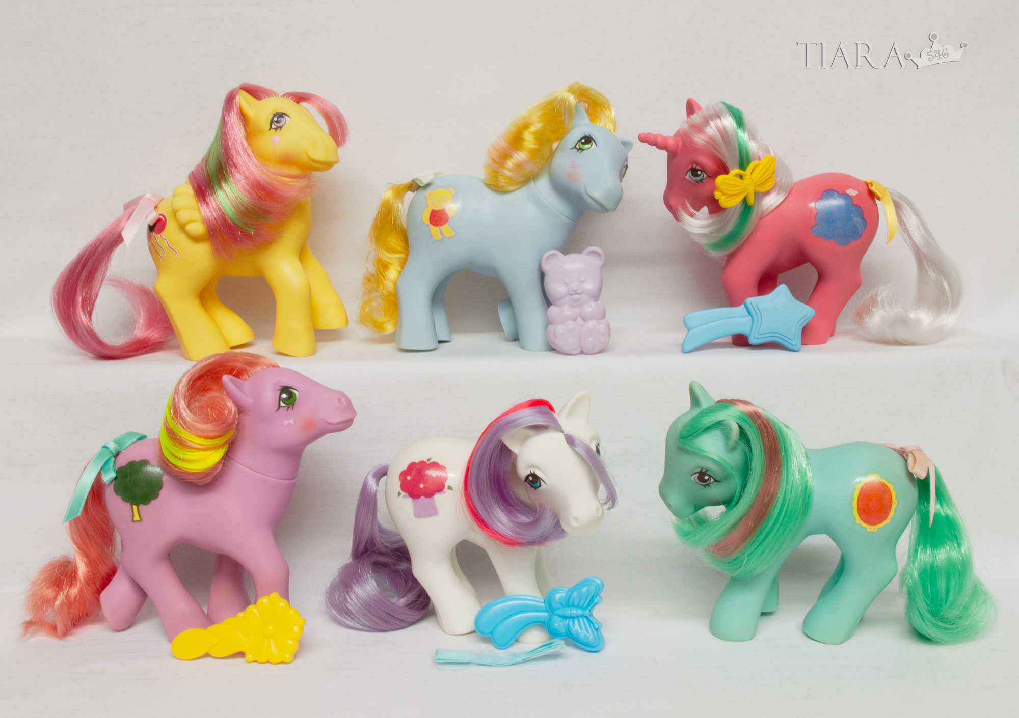 MLP G1 Pony Magic Message Ponies Complete Set