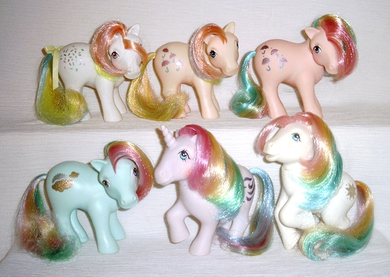MLP G1 Rainbow Pony First Series Ponies Complete Set