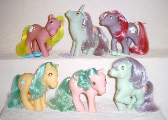 MLP G1 Scented Sundea Best Pony SB Ponies Complete Set