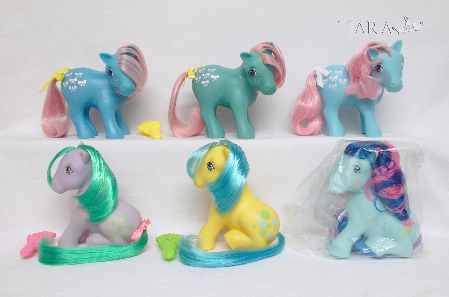 MLP G1 Pony Bowtie Bow Tie Sitting Ponies