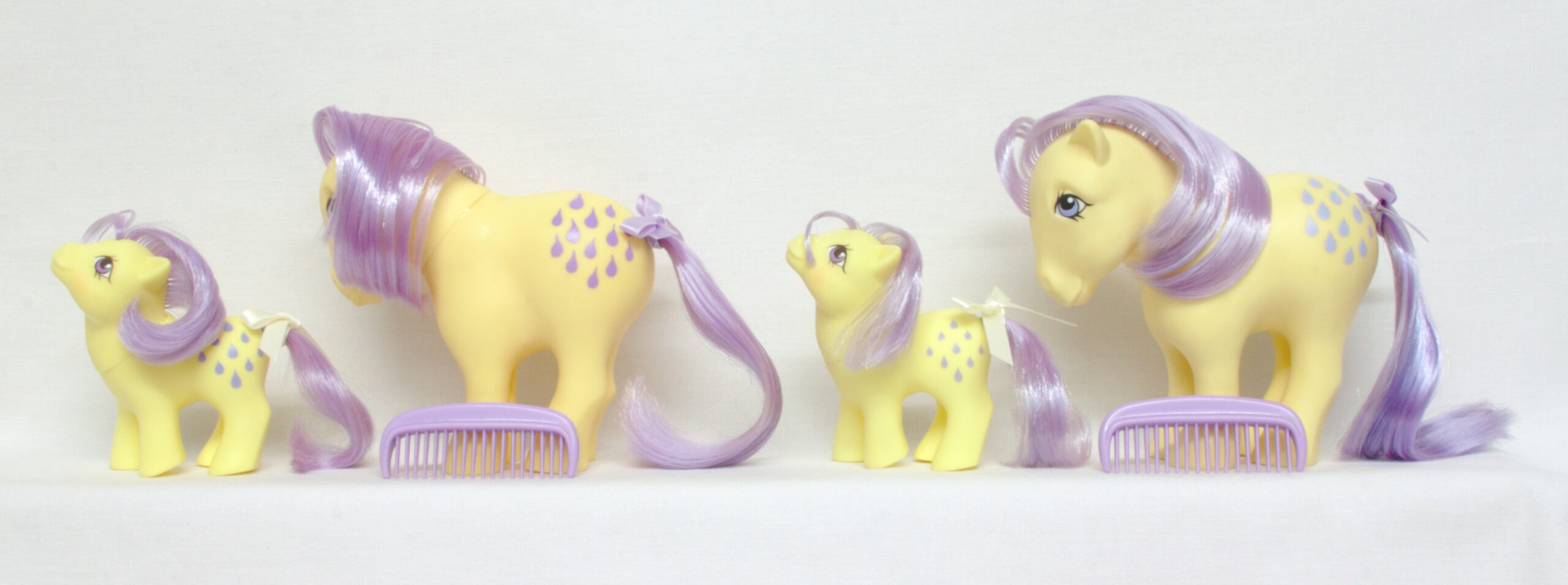 MLP G1 Pony Mummy and Baby Lemondrop Lemon Drop Ponies
