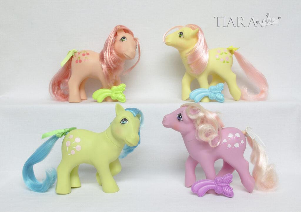 MLP G1 Pony 1984 Earth Ponies Complete Set