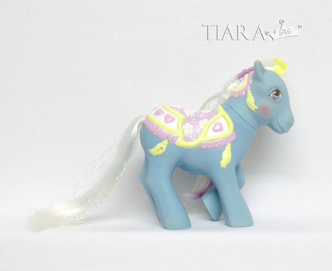 MLP G1 Pony MGR Merry Go Round Ponies Brilliant Blossom Alt Alternate Rehair Custom Display Side