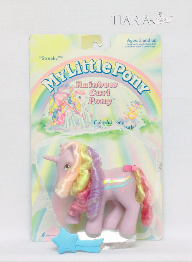 MLP G1 Pony Rainbow Curl Streaky Complete With Card