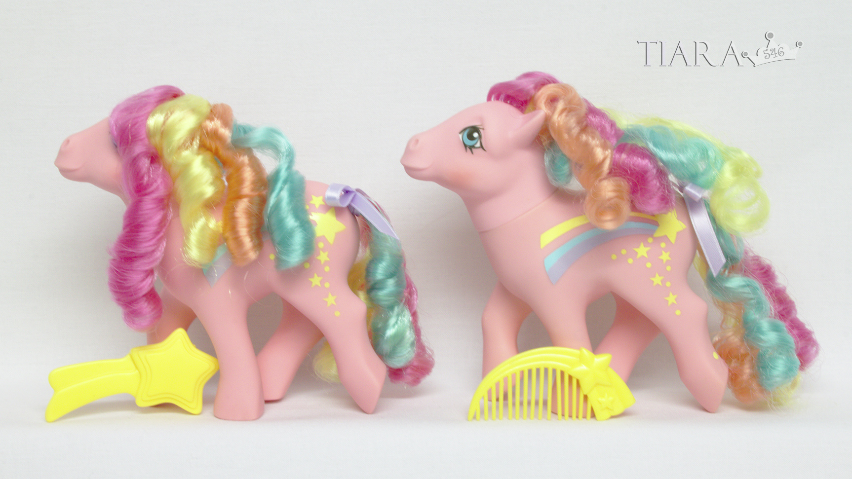 MLP G1 Pony Rainbow Curl Ponies Stripes Variants Variant
