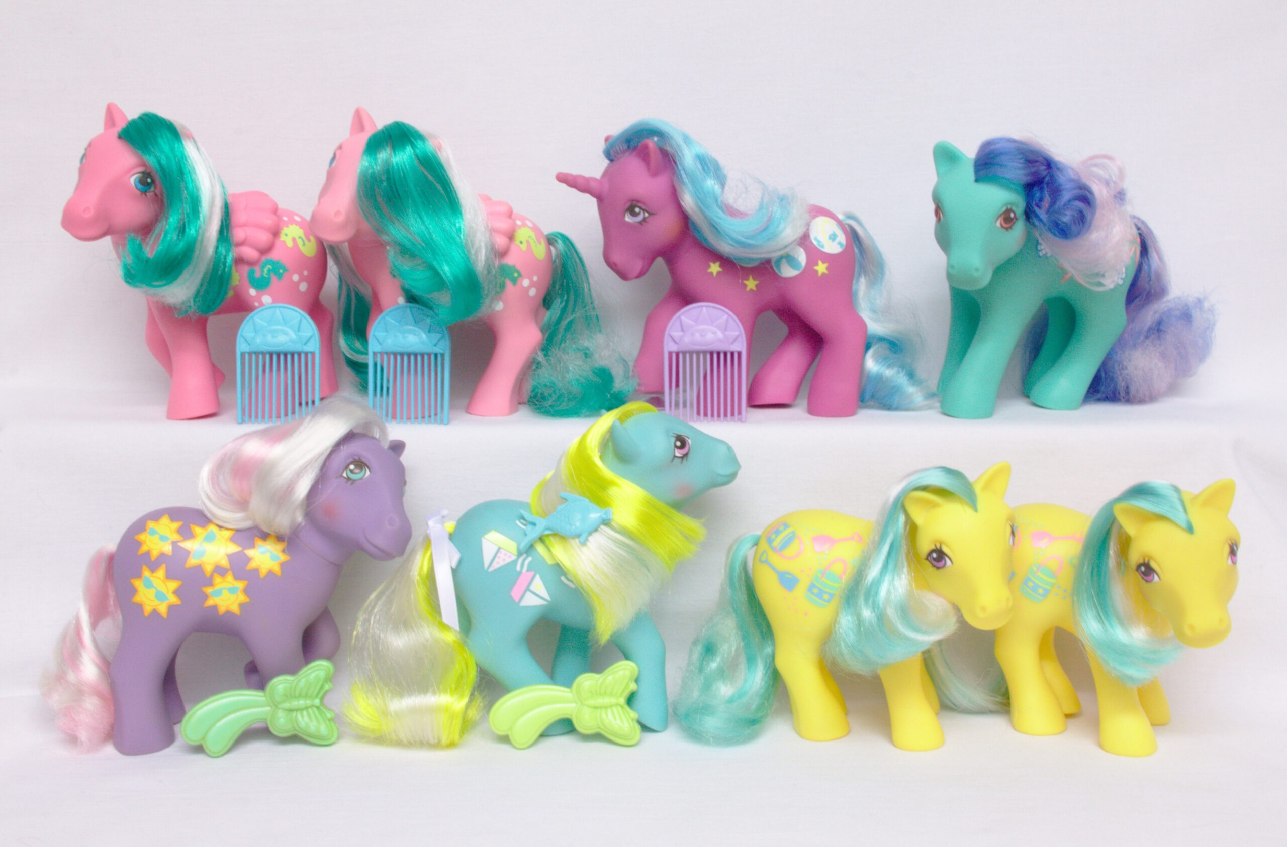 MLP G1 Pony Sunshine Ponies Complete Set With Variants