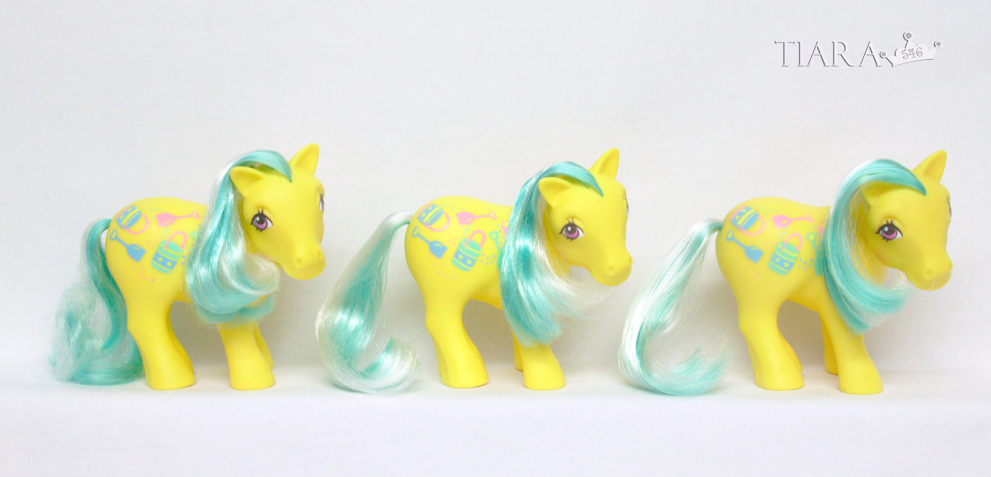 MLP G1 Pony Sunshine Ponies Sand Digger Variants