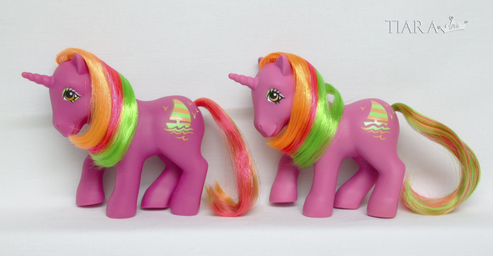 MLP G1 Pony Tropical Ponies Hula Hula Variants