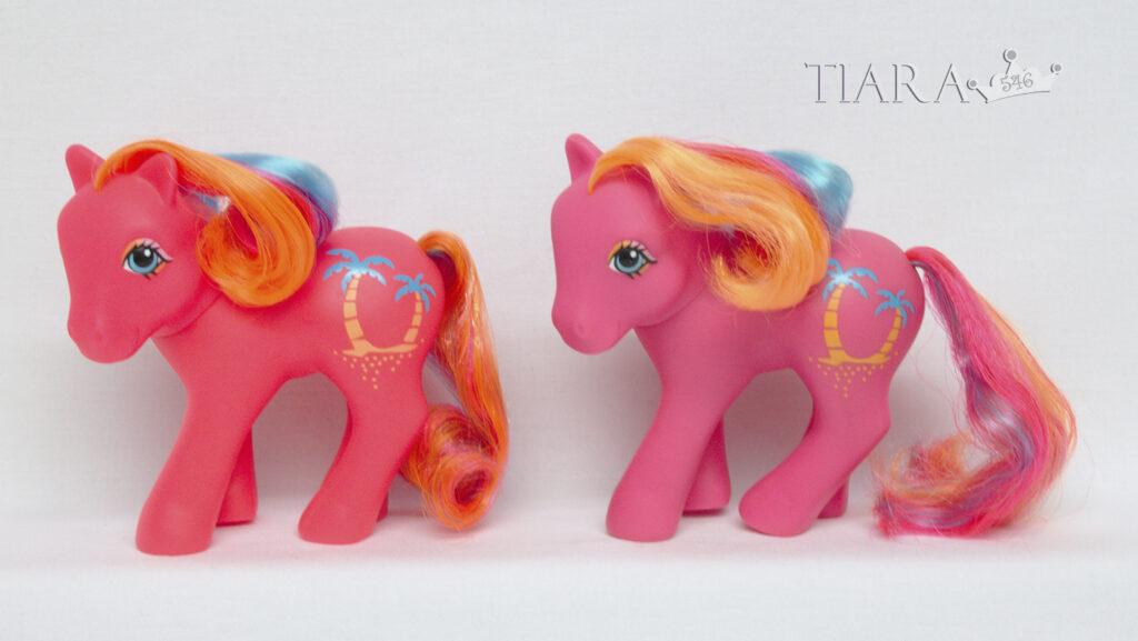 MLP G1 Pony Tropical Ponies Pina Colada Variants